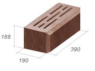 Камень стеновой с щелевой фаской (код: 130)