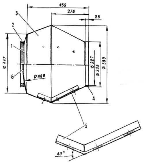 Рабочая ёмкость бетономешалки